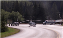 Sherrif helicopter and vehicles