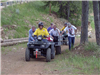 Search and Rescue team perform evacuation with all terrain vehicle trailer ambulance