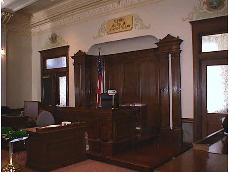 View of courtroom